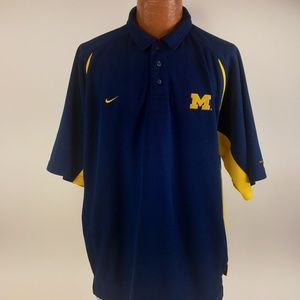 Nike Shirt Size XL Nike Team Michigan Dri Fit